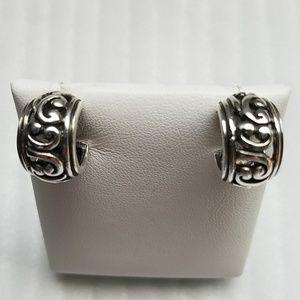 925 Sterling Silver Filigree Hoops